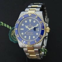 Rolex Submariner Date Gold/Steel Blue Dial NEW 116613LB