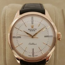 Rolex Cellini Time pre-owned 39mm Crocodile skin