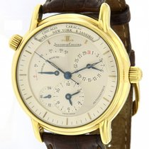 Jaeger-LeCoultre Yellow gold Automatic Silver 38mm pre-owned Master Geographic