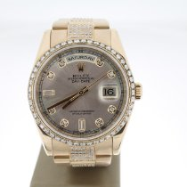 Rolex Or rose Remontage automatique Rose Sans chiffres 36mm occasion Day-Date 36