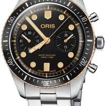Oris Steel Automatic Black 43mm new Divers Sixty Five