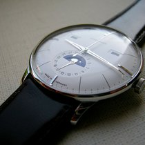 Junghans new Automatic Display Back Luminescent Hands Genevian Seal 40.4mm Steel Plexiglass