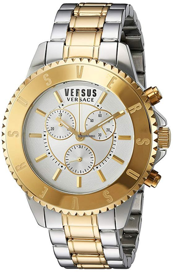 86146c65eb Versace Versus by Versace Men's SGN120015 Tokyo Chrono Analog Display  Quartz Two Tone Watch