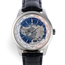 Jaeger-LeCoultre Geophysic Universal Time pre-owned 41.6mm Blue Crocodile skin