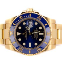 Rolex Submariner Date gebraucht 40,00mm Blau Datum Weißgold