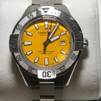 Louis Erard La Sportive Steel 45mm Yellow No numerals