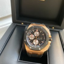 Audemars Piguet Royal Oak Offshore Chronograph Rosa guld 44mm Sort Ingen tal