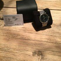 IWC Portofino Automatic gebraucht 40mm Schwarz Datum Krokodilleder