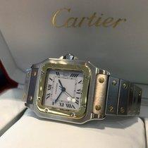 Cartier Santos Gold Steel White Roman Dial 40 x 30 mm (Full Set)