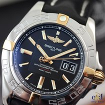 Breitling Galactic 41 Automatic Steel & Gold on Leather...