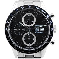TAG Heuer Carrera Calibre 16 Stainless Steel Black Dial - CV2010