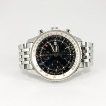 Breitling Chronograph 46mm Automatic 2012 pre-owned Navitimer World Black