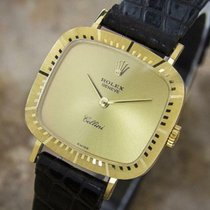 Rolex Cellini Time pre-owned 25mm Gold Leather