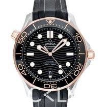 歐米茄 玫瑰金 自動發條 黑色 新的 Seamaster Diver 300 M