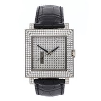Boucheron White gold 32mm Automatic Carree pre-owned