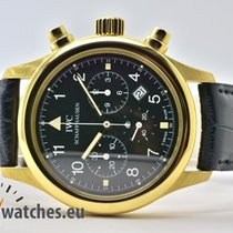 IWC IW3741 Geelgoud Pilot Chronograph 36mm tweedehands