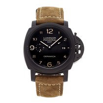 Panerai Luminor 1950 3 Days GMT Automatic Keramik 44mm Sort Arabertal
