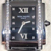 Patek Philippe Twenty~4 Steel 25mm Black Roman numerals