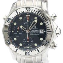 Omega Seamaster Diver 300 M подержанные 42mm Синий Хронограф Дата Сталь