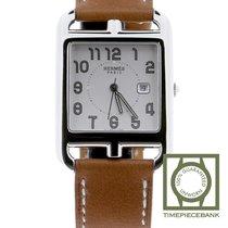Hermès Steel Quartz Silver Arabic numerals 29mm new Cape Cod