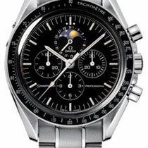 歐米茄 Speedmaster Professional Moonwatch Moonphase 鋼 42mm 黑色