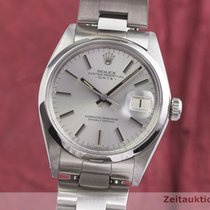 Rolex Oyster Perpetual Date Zeljezo 34mm Srebro