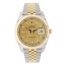 Rolex Datejust 41mm Steel 18K Yellow Gold Jubilee Bracelet 126303