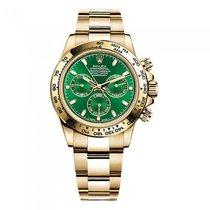 Rolex Cosmograph Daytona Green Dial 18K Yellow Gold Oyster Watch