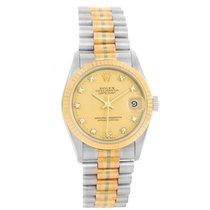 Rolex Datejust President Tridor 18k Gold Diamond Midsize Watch...