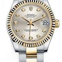 Rolex New Style Datejust Midsize Two Tone Custom Fluted Bezel...
