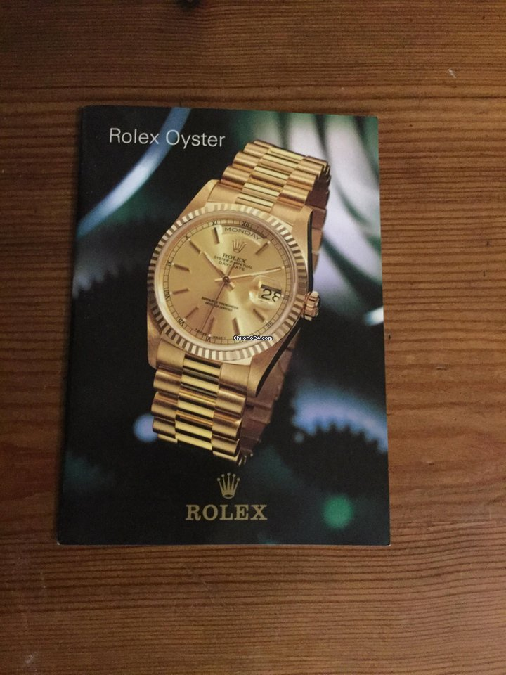 Rolex Oyster Booklet 1996 With Uk Price List For S 78 For Sale From