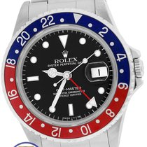 Rolex GMT-Master Pepsi Blue Red Stainless 16700 40mm Date Watch