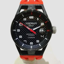 Locman Carbon 41mm Quartz 0544C09S-CRCBWHSR new