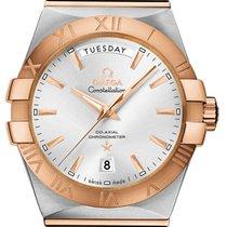 Omega Constellation Day-Date neu Automatik Uhr mit Original-Box und Original-Papieren 123.20.38.22.02.001