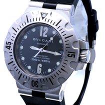 Bulgari Diagono Steel 42mm Black No numerals