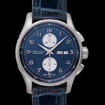 Hamilton Jazzmaster Maestro Auto Chrono Blue Steel/Leather...
