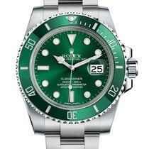 Rolex Submariner Date Steel 40mm Green No numerals