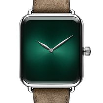 H.Moser & Cie. Henry Double Hairspring Oro blanco 38.2mm Verde
