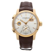 Ulysse Nardin Dual Time Rose gold 42mm Silver No numerals