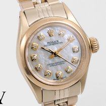 Rolex Oyster Perpetual (Submodel) pre-owned 24mm Yellow gold
