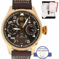 IWC Big Pilot pre-owned 46mm Brown Moon phase Date Month Year Leather