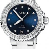 Oris Aquis Date Steel 36.5mm Blue