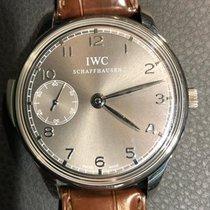 IWC Portuguese Minute Repeater Złoto białe 43mm Szary Arabskie Polska, Warszawa