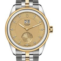 Tudor Glamour Double Date Gold/Steel 42mm Champagne