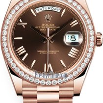 Rolex Day-Date 40 new 2021 Automatic Watch with original box and original papers 228345RBR Chocolate Roman