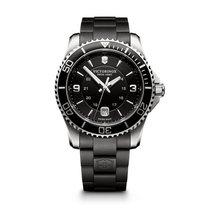Victorinox Swiss Army Maverick large black dial, black steel...