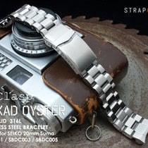 MiLTAT Hexad Oyster Band for Seiko Sumo SBDC001, V-Clasp