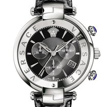 Versace Revive Chronograph Silver & Black (VAJ01-0016)
