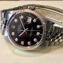 Rolex Black Dial Mens oyster perpetual datejust CAL 1570 watch