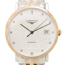 Longines Elegant 18k Rose Gold And Steel Silver Automatic...